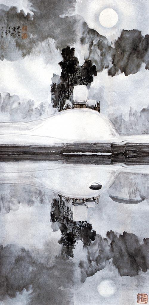 1985年玉境  136x68cm   深圳美术馆收藏