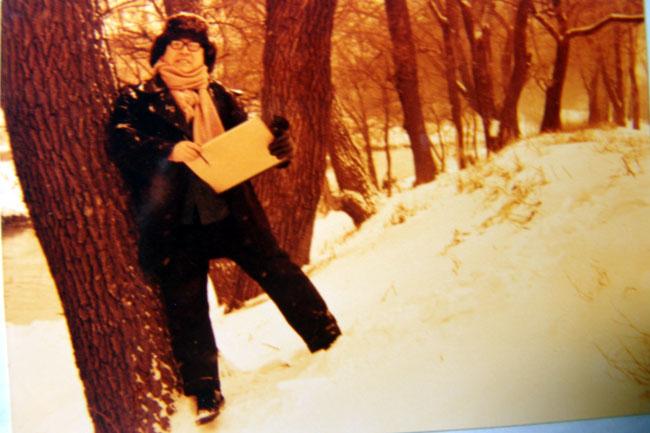 80年于志学在大兴安岭写生