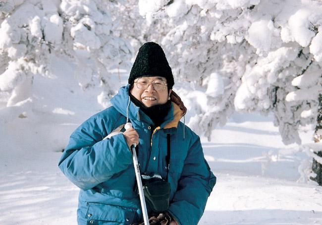 于志学1992年在黑龙江亚伯利考察雪景