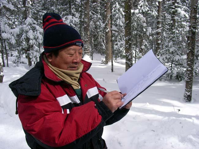 2007年于志学在长白山写生