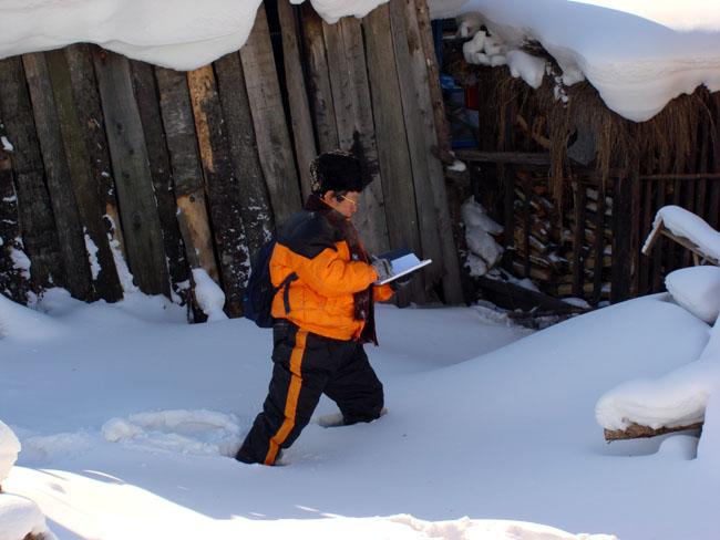 2008年1月于志学在雪乡写生