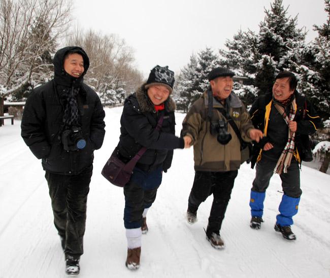 2013年冰雪画派在小兴安岭写生