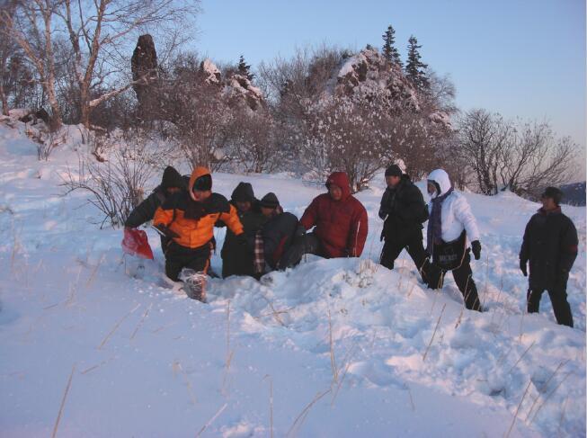 2008年1月于志学带领冰雪画派在雪乡写生