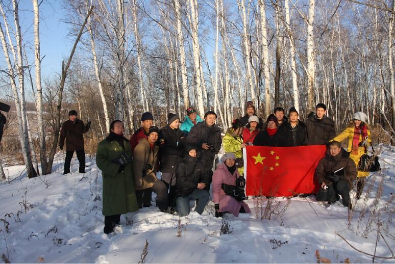 2009年1月导师于志学率冰雪画派在俄罗斯阿穆尔州写生