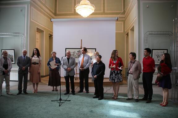 2016年于志学艺术展开幕式在乌克兰国家艺术科学院隆重举行