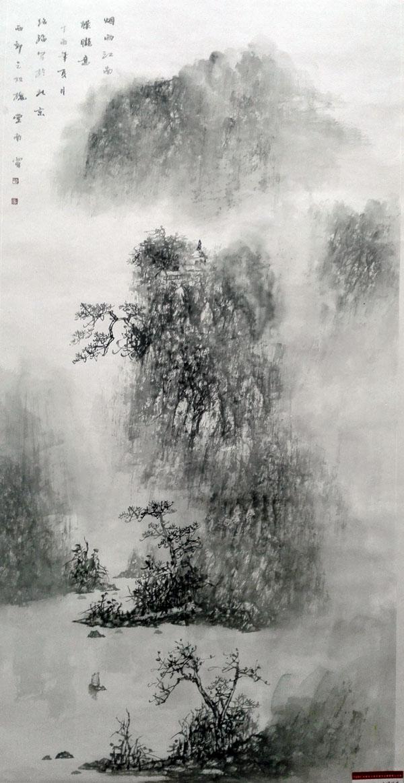 吕绍福作品《烟雨江南》