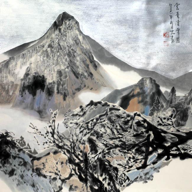 加宏杰 云台清霁图   68x68cm  2013年