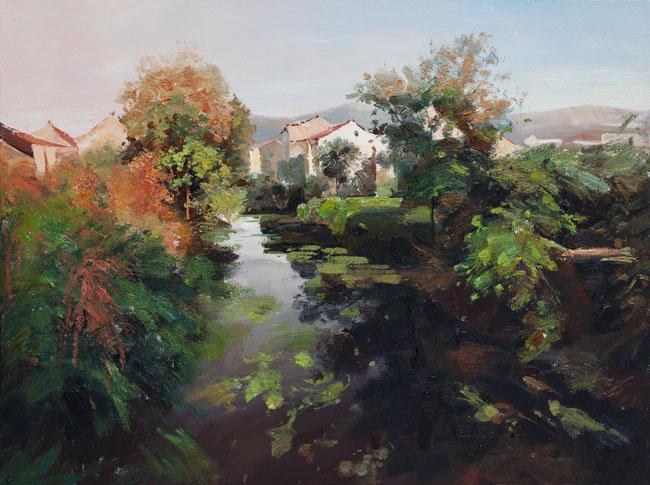 朱建成风景油画作品