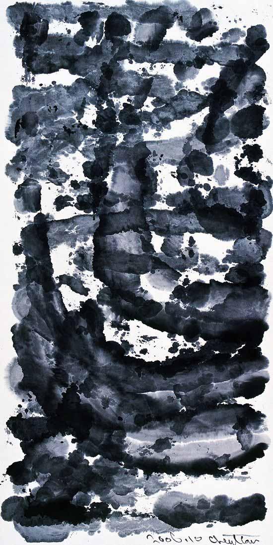4、陈天 ·《蚀》系列 · 纸本水墨 · 180x90cm · 2006.jpg